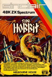 La confezione dell'adventure game The Hobbit.