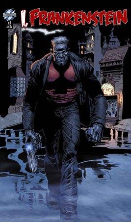 La copertina del fumetto di I, Frankenstein