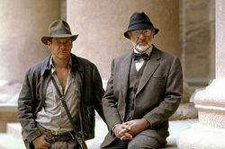 Harrison Ford e Sean Connery ai tempi di Indiana Jones e l'ultima crociata