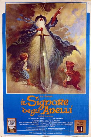 Il signore degli anelli - manifesto del film di Ralph Bakshi 1978