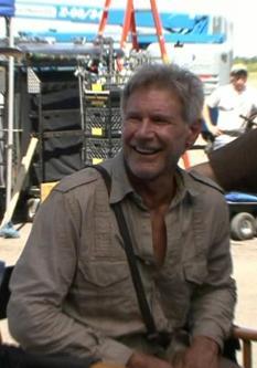 Harrison Ford sul set di Indiana Jones 4