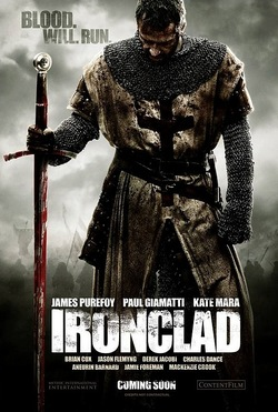 Il poster promozionale di Ironclad.