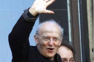 Jean Giraud, nel 2008, ad Angoulême (PHOTO A.BOURRON)