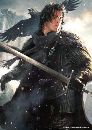 Jon Snow in un'illustrazione di Michael Komarck