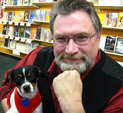 Jonathan Maberry e il suo cane Rosie