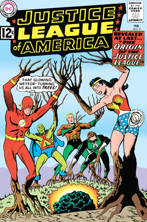 La copertina di Justice League of America #9 (febbraio 1962) di Mike Sekowsky