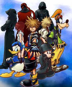 Foto di gruppo per i protagonisti di Kingdom Hearts 2