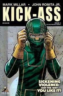 La copertina del secondo numero di Kick-Ass