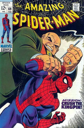Kingpin contro Spider-Man. Cover di John Romita