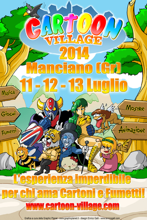 locandina cartoon village 2014