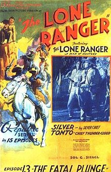 Locandina del serial The Lone Ranger