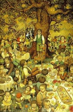 Il compleanno di Bilbo visto da Inger Edelfeld