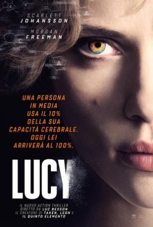 Scarlett Johansson nel poster italiano di Lucy di Luc Besson