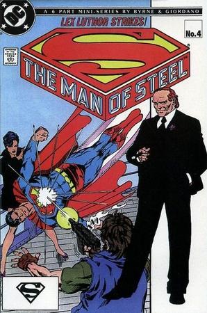 Lex Luthor sulla copertina di The Man of Steel #4 (novembre 1986) di John Byrne