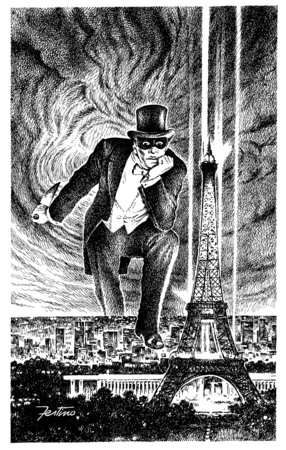 Manifesto della mostra di Fantomas, realizzato da Giuseppe Festino