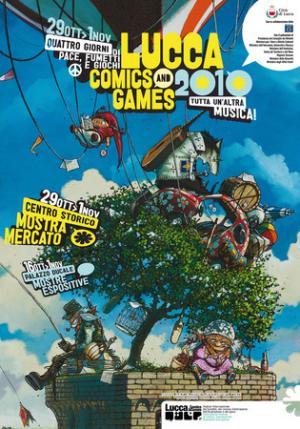 Il poster di Lucca Comics & Games 2010 di Massimiliano Frezzato