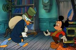 Scrooge e Bob Cratchit nella versione a cartone animato della Disney