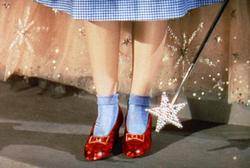 Le scarpette rosse di Dorothy dopo il restauro della pellicola