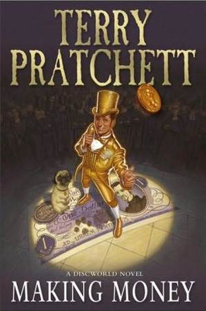La cover del Making Money inglese, di Terry Pratchett