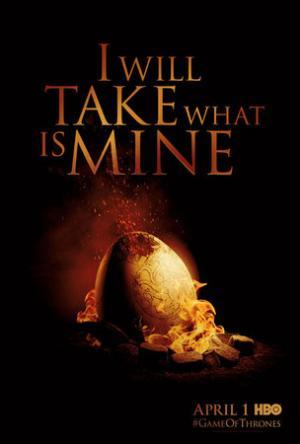 Un poster pubblicitario della seconda stagione di Game of Thrones.