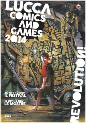 Il poster di Lucca C6G 2014 disegnato da Gabriele Dell'Otto