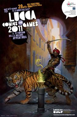 La locandina di Lucca Comics and Games 2011