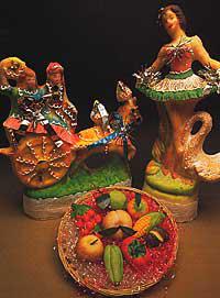 Pupe di zucchero e Frutta martorana per la festa dei morti in sicilia