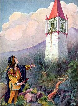 Una delle illustrazioni originali della raccolta di fiabe dei Fratelli Grimm