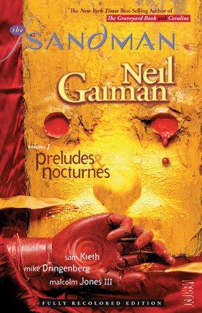 La copertina di Sandman: Preludes & Nocturnes, illustrata da Dave McKean