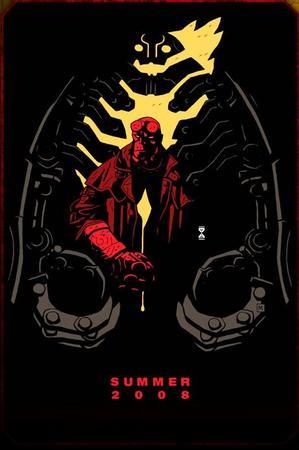 Il manifesto di Hellboy 2 disegnato da Mike Mignola