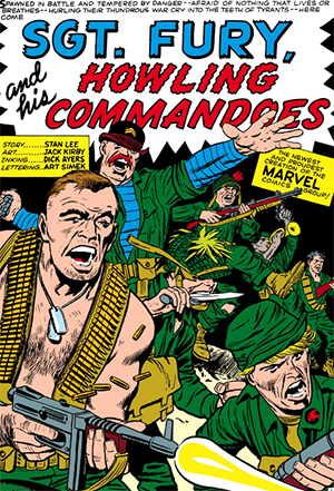 Sgt. Fury & His Howling Commandos - Disegno di Jack Kirby
