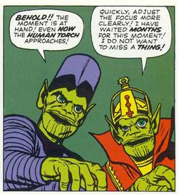 Gli Skrull disegnati da Jack Kirby