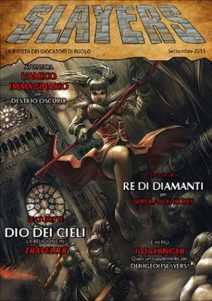Il numero zero di Slayers Magazine - Illustrazione di copertina di Eniqma