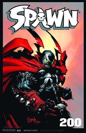 La cover di Spawn #200.