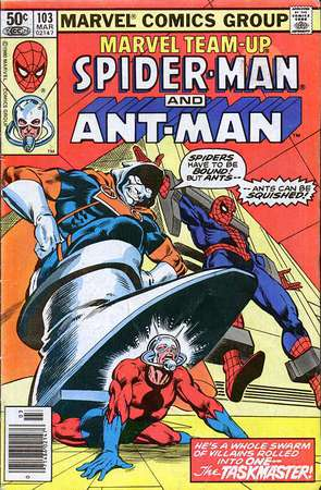 Spider-Man e Ant-Man in Marvel Team-Up 103, cover di Jerry Bingham
