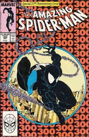 La copertina di Amazing Spiderman 300, albo dove compare per la prima volta Venom