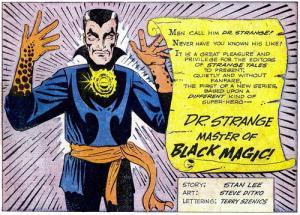 Il Dottor Strange disegnato da Steve Ditko