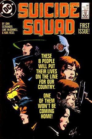 La copertina del primo numero di Suicide Squad (maggio 1987) illustrata da Howard Chaykin