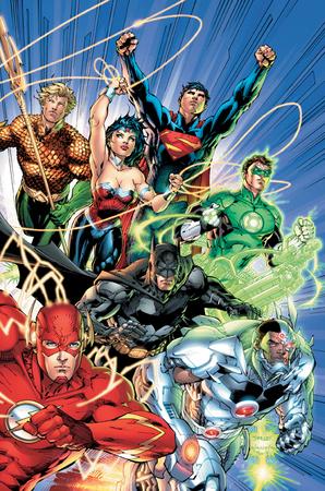 La nuova Lega della Giustizia, illustrata da Jim Lee.