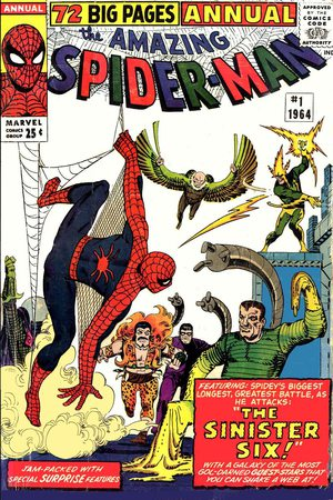 The Amazing Spider-Man Annual n.1 - Cover di Steve Ditko