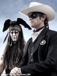 Johny Depp e Armie Hammer in The Lone Ranger