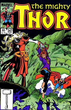 Malekith nella copertina di The Mighty Thor vol. 1, #347 (Settembre 1984). Disegno di Walt Simonson.