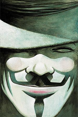 V, in un disegno di David Lloyd