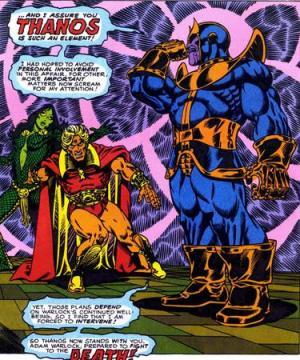 Gamora, Warlock e Thanos