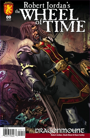 La copertina del primo numero della graphic novel ispirata a L'occhio del Mondo. In primo piano Lews Therin Telamon.