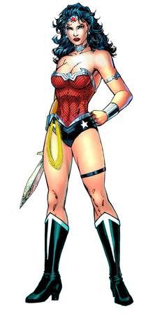 La più recente versione del costume di Wonder Woman nei comics, quella di Jim Lee