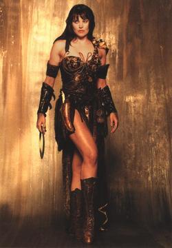 La star neozelandese Lucy Lawless nei panni di Xena