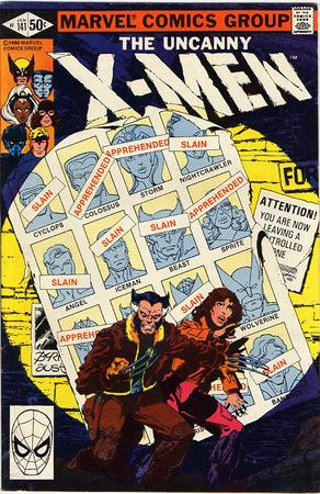 Uncanny X-Men 141. Cover di John Byrne