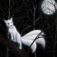 Un kitsune, demone della tradizione giapponese.