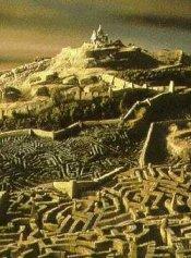 Uno degli splendidi scenari fantasy di Labyrinth